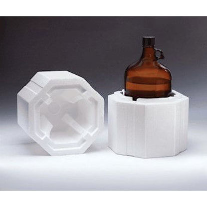 Picture of CP-380 - Styrofoam Shipper for 4 Liter Round Bottle (CP380)