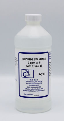 Picture of F-39P - Fluoride w/ TISAB II Standard, 2 ppm (F39P)