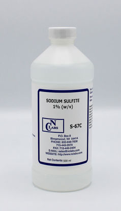 Picture of S-67C - Sodium Sulfite, 1% (w/v) (S67C)