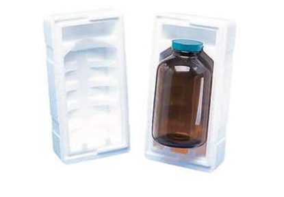 Picture of CP-344 - Styrofoam Shipper for ½ Pint Round Bottle (CP344)