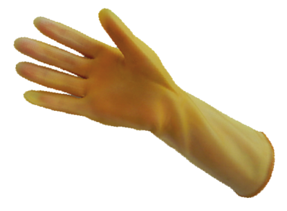 Picture of G-409 - Amber Reusable Latex Gloves, Size 9 (G409)