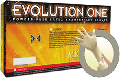 Picture of GD-200-XL - Evolution One Amber Powder-Free Disposable Latex Gloves, Size XL (GD200XL)