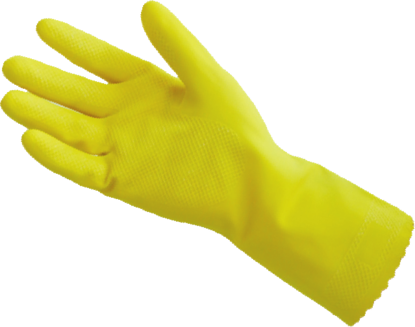Picture of G-297 - Yellow Industrial Natural Rubber Latex Gloves, Size M (G297)