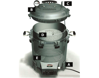 Picture of EA - WC-2156 - Internal Aluminum Container for Sterilizers WC-101/WC-102 (WC2156)