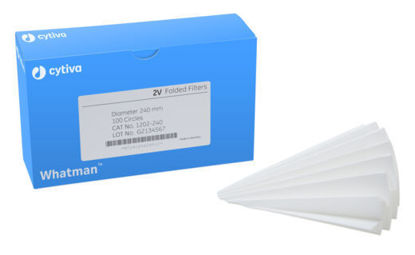 Picture of PK(100/pk) - FF-215 - 15 cm Cytiva's Whatman #2V Folded Filter (FF215)